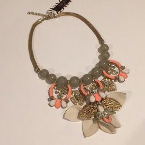 Jewelry - Fashion Jewelry Statement Necklace Gold Coral